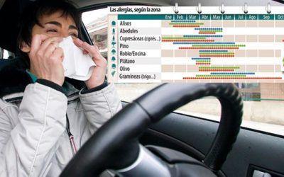 ¿Sufres alergia? Cuidado al volante